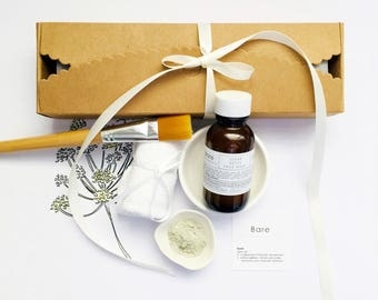 FACE MASK KIT | Gift Box  | Gentle Exfoliating or Clear Detox Face Mask |