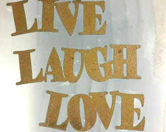 Metal Live Laugh Love Sign - Metal Letters - Metal Wall Art - Word Wall Art - Outdoor Decor - Home Decor - Quote Set - Wall Art Metal