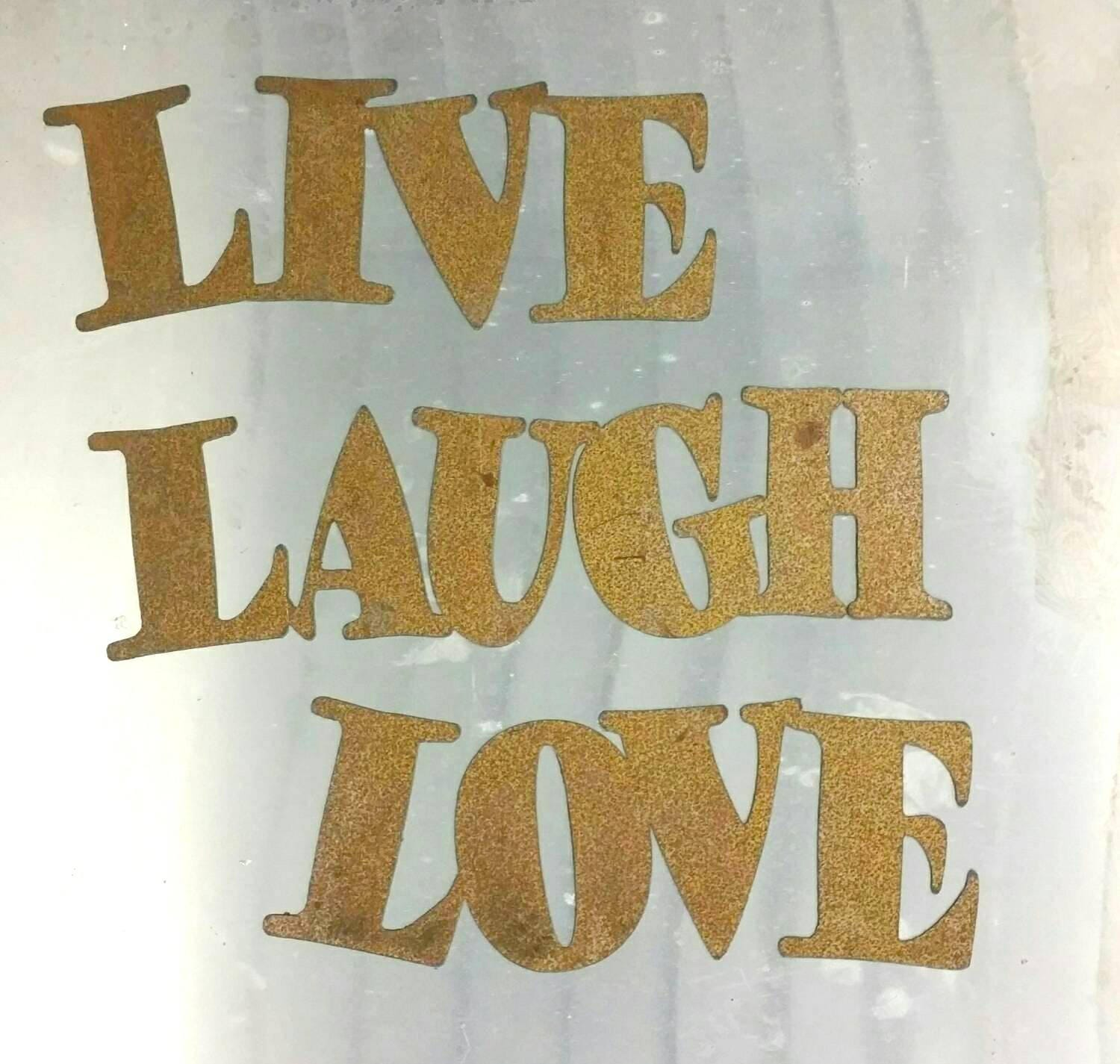 Metal Letters For Outdoor Signs Metal Live Laugh Love Sign  Metal Letters  Metal Wall Art  Word