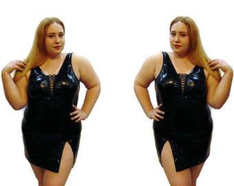 black chemise sexy lingerie plus size 2X 3X 2XL 3XL 4XL EU 42 44 46 48 50 52 54 56 UK 10 12 14 16 18 20 22 24 26