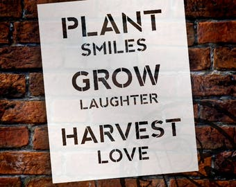 Plant - Grow - Harvest - Word Stencil - Select Size - STCL2158 - by StudioR12