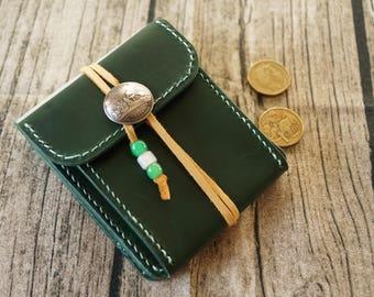 Customized/Handmade/handsewing veg tan Italian buttero leather wallet