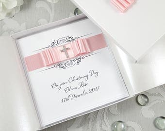 Handmade Christening Card, Baptism Card, Naming Day Card, Personalised Christening Card, Luxury Christening Card, Boxed Christening Card