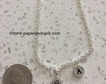 Pool initial necklace, pool table jewelry, billiards necklace, gift for pool player, billiards player necklace, pool balls