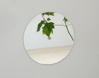 ROUND BRASS Mirror // HAF design // Bathroom Mirror Centered Brass screw //  Wall Mirror // Hollywood regency decor