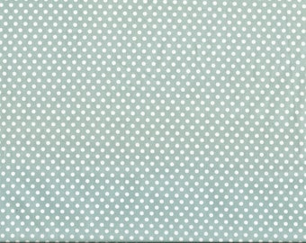 Tissu coton patchwork gris à pois blancs de 3mm.