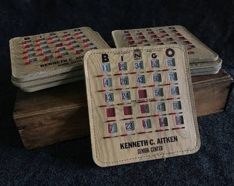 Vintage BINGO sliding cards