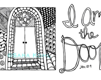 I Am the Door Zentangle Print