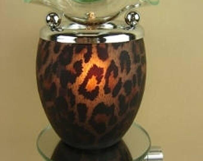 Leopard Patern Oil Tart, Oil Burner, Plug In Oil Tart, Oil Warmer, Candle Tart Warmer, Oil Burner, Buy Electric Oil Burner