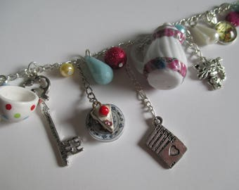 Alice in Wonderland Charm Necklace