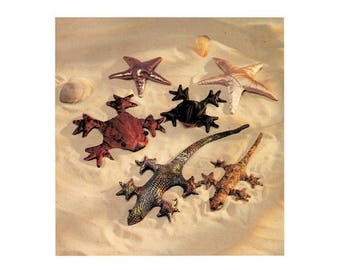 Kwik Sew 2413 Stuffed Toys, Soft Toy Gecko, Starfish and Frog in Various Sizes