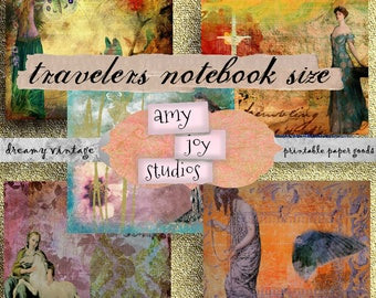 Travelers Notebook  PRINTABLE Journal Pages  Vintage Journal  Ephemera Pack  Fairy Tale  Travelers Notebook Kit  Digital