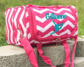 Gymnastic Bag - Personalized Gymnastic Bag - Personalized Gym Bag - Girls Gym Bag - Monogram Gym Bag - Gymnastic Mom - Gymnastic Duffle Bag