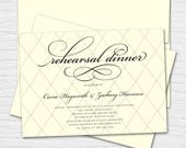 Script Rehearsal Dinner, Customizable Digital or Printed Invitation