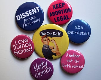 Feminist Pro-Choice Buttons/Pins