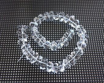 Full Strand Natural Clear Quartz Faceted Nugget Beads