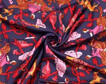 "HERMES SCARF Silk ""Early America"" by Françoise De La Perriere  90cm Carre 100% Auth"