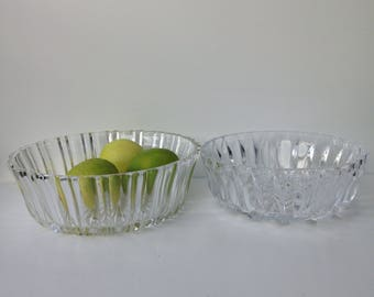 Set of two crystal bowls