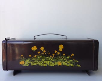 Flower power vintage brabantia Biscuit Tin