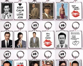 ON SALE NOW Jon Hamm Keychain Key Ring - Many Designs To Choose From Shirtless