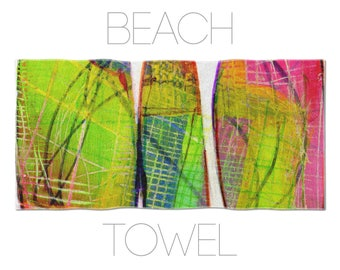 Cool Beach Towel, Abstract Art, Printed Beach Towels, Colorful Beach Towel, Abstract Towels, Beach Accessory, Bathroom Linen