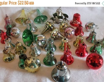 SALE Collection of 35 Vintage Plastic Christmas Tree Ornaments