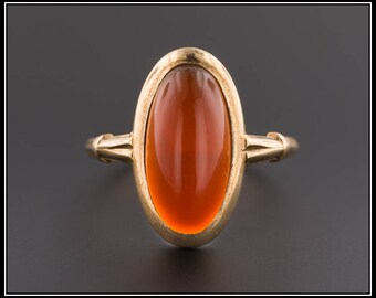 10k Gold Carnelian Ring | Vintage Carnelian Ring | 10k Gold Ring | Vintage Ring