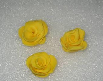 18 x edible  yellow roses