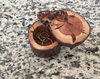 Redwood Ring Box Small