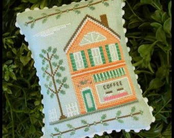 "COUNTRY COTTAGE NEEDLEWORKS ""Main Street Coffee Shop"" 