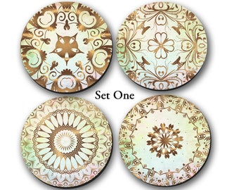 Coasters, Gold Mandala, Minimalist, Coasters, Gifts, Homewarming - CO00940