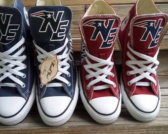 New England Patriots High Top Converse shoes