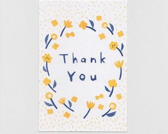 Postcard 'Thank you' + Envelope  (3 sheets set)