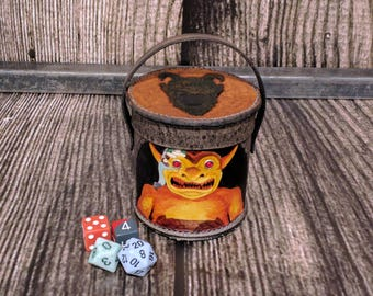 Dice Cup with classic D&D art