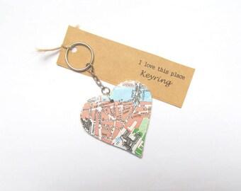 Florence, Italy keyring. Keychain featuring the Giardino di Boboli. Gift idea for new home, girlfriend, wedding, best friend, birthday