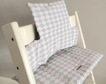 "Highchair cushion ""Rhombic / grey"" for Stokke Tripp Trapp"