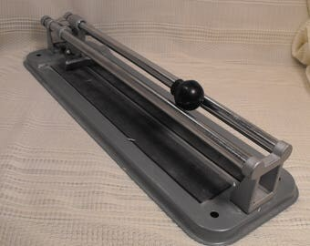 Vintage Ceramic Tile Cutter   Manual-Hand Operated CraftsmanTool  Metal 18 inches long