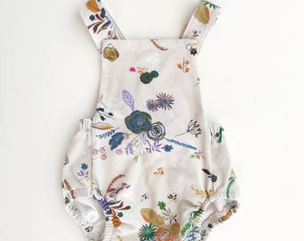 Baby Romper / Toddler Romper / Baby Playsuit / Toddler Playsuit - // Florals //  IN STOCK - SALE