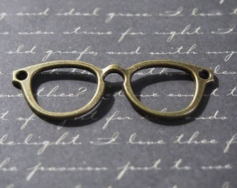 Great connector pair of glasses in metal color bronze 55x19mm