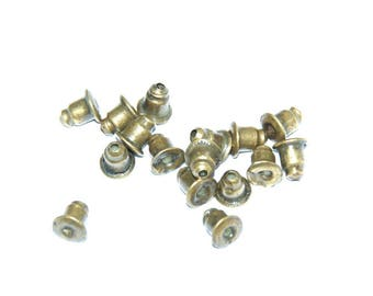 10 buttons for 5x5mm bronze metal ear posts