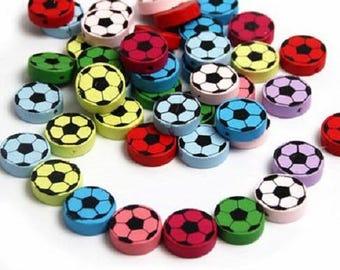 4 ball 20mm wooden beads