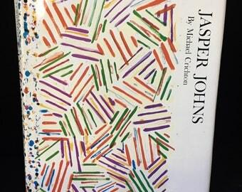 Jasper Johns - Michael Crichton 1977 Abrams Whitney Museum 1st Edition HBDJ