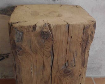 24 X 24 X 45 cm solid wood end table