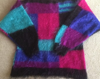 Handknitted Mohair Jumper Sweater