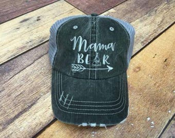 Trucker Hat - Mama Bear - Mothers Day  - Chic - Gift