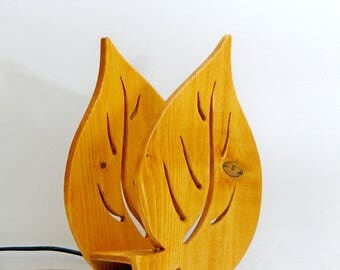 "wooden table luminaire ""leaf"""
