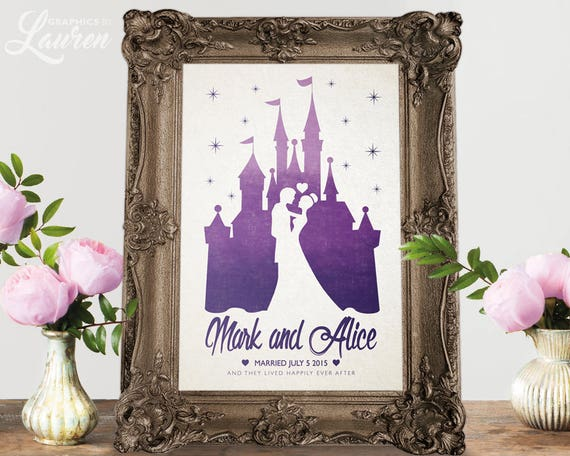 Personalized Disney Wedding Gifts: Disney Wedding Gift / Personalised Wedding Gift / Wedding