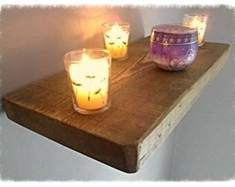 Kitchen Floating Wall Shelf / Shelves - Pine - 1ft - 6ft - ** FREE UK DELIVERY **