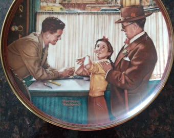 """Norman Rockwell's """"A Time to Keep"""" Plate"""