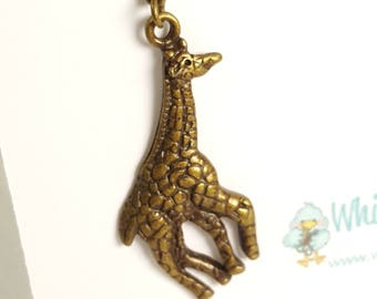 Giraffe (bronze) Progress Keeper Marker Stitch Marker with lobster clasp PK0019